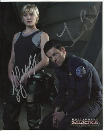 Autographs Katee Sackhoff & Jamie Bamber Battlestar Galatica hand