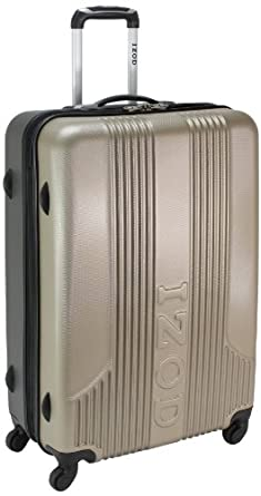 IZOD Luggage Voyager 2.0 28 Inch Expandable Spinner Upright Suitcase, Dry Champagne, Large