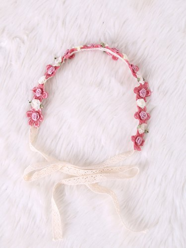 Festival Boho Hippy Hair Head Band/ Rose Crown/Bohemian style (Sweet Pink) (Wedding Favor Sunflower Seeds compare prices)