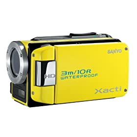 Sanyo VPC-WH1 HD Waterproof Flash Memory Camcorder w/ 30x Optical Zoom (Yellow)