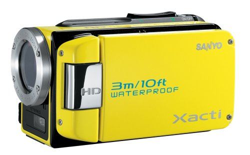 Sanyo VPC-WH1 High Definition Waterproof Flash Memory Camcorder w/ 30x Optical Zoom (Yellow)