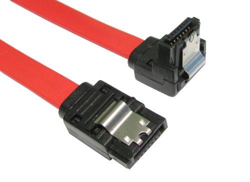 Sicherungslasche Rechts Abgewinkelt SATA Stecker Zum Gerade SATA Stecker Kabel Anschlusskabel 45 cm