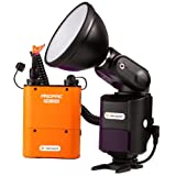 NEEWER® AD-360 360W External Portable Flash Light Speedlite with PB960 Lithium Battery Pack for Canon 580EX II, 580EX, 550EX, Nikon SB-900 SB-800 SB-80DX SB-28DX SB-28 SB-27, Sony HVL-F58AM HVL-F43AM, Metz Flash