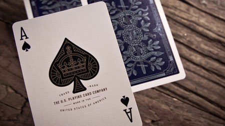 Theory11 Monarch Spielkarten (schwarz, 3,5 x 2,5 Zoll) Black Monarch Playing Cards by Bicycle & theory11