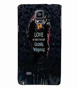 PrintVisa Romantic Love Global warming 3D Hard Polycarbonate Designer Back Case Cover for Samsung Galaxy Note 4