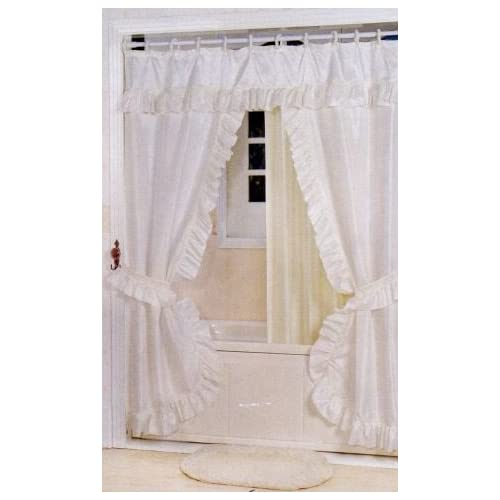 Short Decorative Curtain Rods Tie Back Shower Curtains with