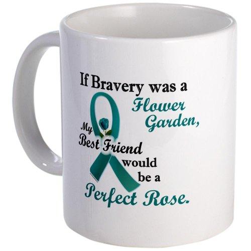 Cafepress Flower Garden 1 Teal Best Friend Mug - Standard