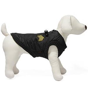 Gooby Bomber Vest for Dogs, X-Large, Black