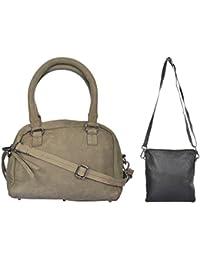 Ur Class Women's Handbag And Sling Bag (UC_10 + UC_22,Black And Grey)