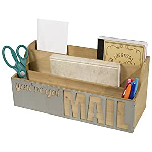 Sheffield home you 39 ve got mail wood desk - Desk organizer sorter ...