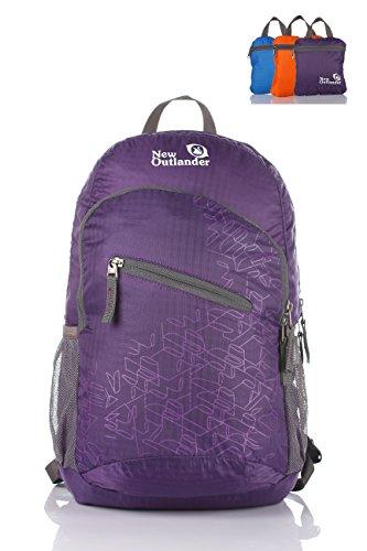 Outlander Packable Handy Lightweight Travel Backpack Daypack-Purple