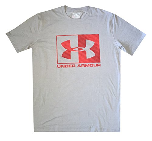 Under Armour Men Charged Cotton Logo T-Shirt (M, True Gray Heather)