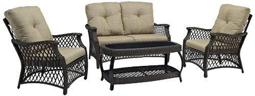 Spectacular If you are looking for an WE Furniture Piece Rattan Patio Conversation Set Take a look here you will find reasonable prices and many special offers