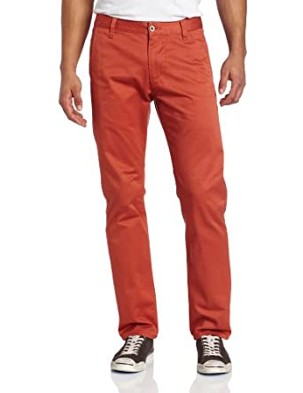 Dockers Men's Alpha Khaki Slim Tapered Flat Front Pant, Firebrush, 28x28