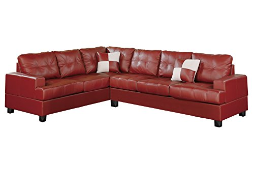 Red Sectional Leather Couch Choose From Red Funky