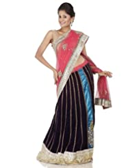 Chhabra555 Red Net One Minute Saree - B00J4RP6CC