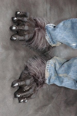 Killer Wolf Feet w/ Fur Deluxe Adult Halloween Costume Accessory