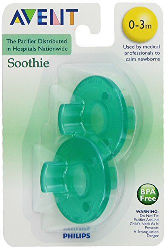 Philips Avent Soothie Pacifier, Green, 0-3 Months, 2 Count