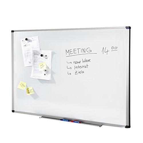 MOB Whiteboard Economy | Testnote 1,5 | schutzlackiert & magnethaftend - im stabilen Alurahmen - 80x110cm