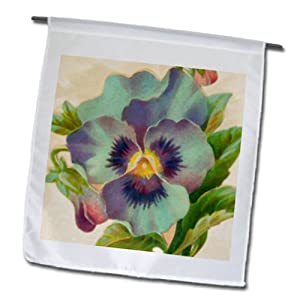 fl_60598_1 Rewards4life Gifts Vintage Watercolors - Pansy Watercolor - Flags - 12 x 18 inch Garden Flag