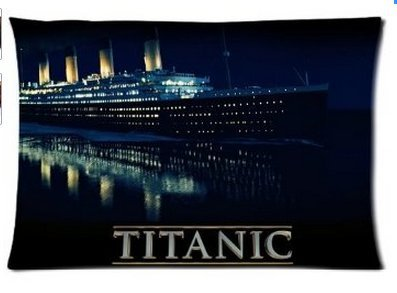 Titanic Ship Home Fantastic Decorative Pillow cover 20x30 Inch two side print customized Zipped pillowcase By Angelinana