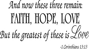 faith hope love corinthians wall quote decal