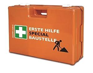 VERBANDSKASTEN SPECIAL BAUSTELLE Erste Hilfe Koffer DIN 13157 Verbandkastenorange 500309  Überprüfung und weitere Informationen