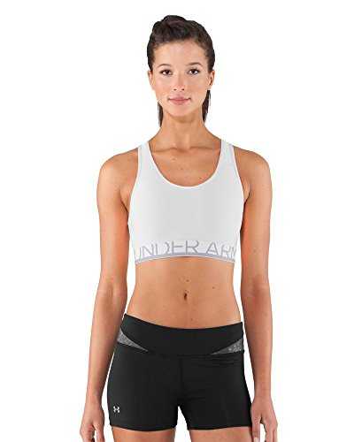 Under Armour Women's Armour Mid Sports Bra X-Small White