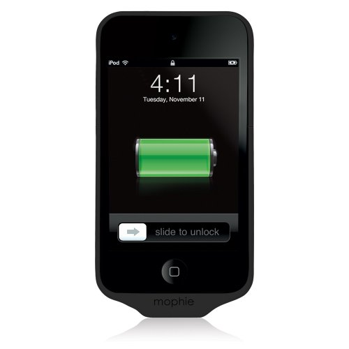 Mophie Juice Pack Air Case and 1000 mAh Rechargeable Battery for iPod touch 4th Gen (Black)