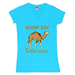 HUMP DAY whoo whoo Juniors V-Neck T-Shirt