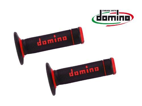 domino(ドミノ) ハンドルバーグリップ オフロードタイプ 118mm サーモプラスチックゴム ブラックXレッド A19041C4240