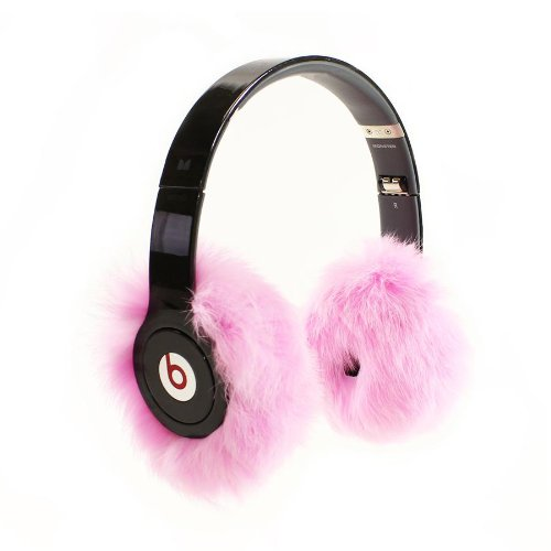 Earmuffies - Fur Earmuff Covers For Headphones - Large Rabbit Pink (Fits Beats Beats Studio/Executive And Other Popular Headphones)