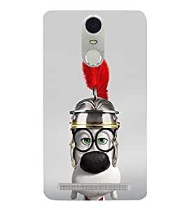 Cute Animated Puppy with Red feather 3D Hard Polycarbonate Designer Back Case Cover for Lenovo K5 Note :: Lenovo Vibe K5 Note Pro