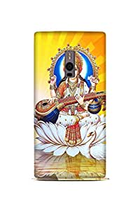 OnePlus One Perfect fit Matte finishing Goddess Saraswati Religious Mobile Backcover designed by Abaci(Multicolor)