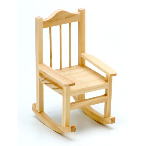 Wood Rocking Chair Unfinished 3.15 x 3.5 x 5.5 inches Fairy Garden Wedding Cake (2)