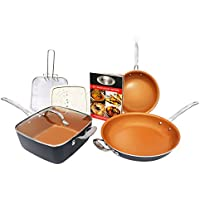 Gotham Steel 7-Piece Cookware Set Titanium Ceramic Pan (Copper)