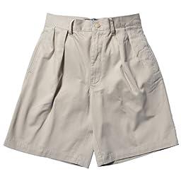 Polo Ralph Lauren Men\'s Classic Pleated Chino Tyler Shorts (30, Beige)