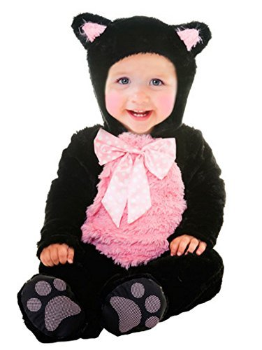 Goodmark Infant Girls Kitty Cat Cutie Costume Plush Black Jumper