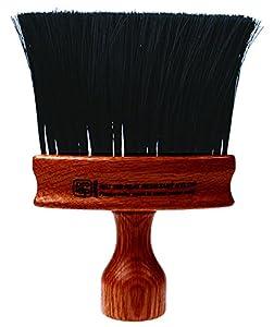 Dark Wood Oval Handle, Black Nylon
