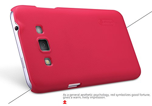 Best Deals - Nillkin Frosted Hard Back Cover Case+Screen Guard for Samsung Galaxy Grand Max - Red