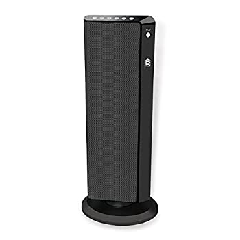 Living Basix LB5320 Flat Panel Tower Portable Space Heater, Black