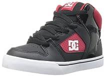 DC Base Skate Shoe (Toddler/Little Kid/Big Kid),Black/Athletic Red,9 M US Toddler