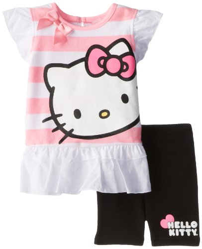 Hello Kitty Baby Baby-Girls Infant 2 Piece Legging Set With Flutter Sleeves, Cotton Candy/Black, 12 Months front-109471