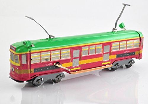 Vintage Melbourne Tram - Green, Red & Gold
