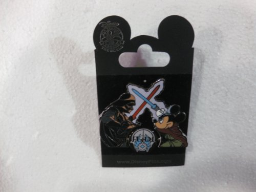 Disney Pin Star Wars Pin Collection Mickey's Pin Odyssey With Jedi Mickey Mouse Against Darth Vader From The 2008 Release
