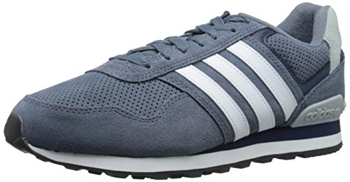 Adidas NEO Men's Runeo 10K Fashion Sneaker, Lead/White/Collegiate Navy, 6.5 M US