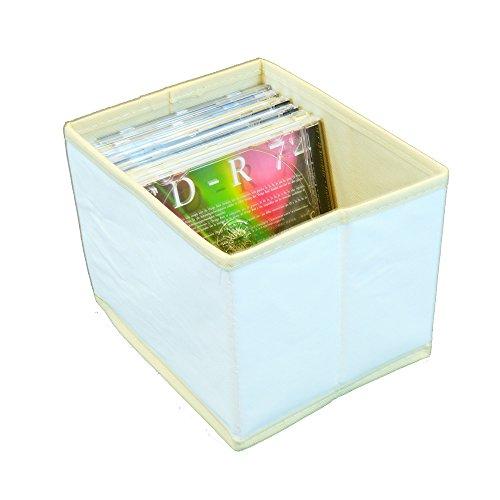 Aufbewahrungsbox-CD-Box-18x15x14-cm-Leinwand-natur-fr-Acrylfarben-zum-selbst-bemalen