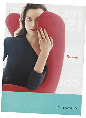 **PRINT AD** With Shalom Harlow For 2006 Tiffany & Co Paloma Picasso Rings **PRINT AD** (Harlow And Co compare prices)