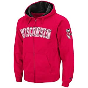 Wisconsin Badgers Full Zip Automatic Hooded Sweatshirt by SportShack INC
