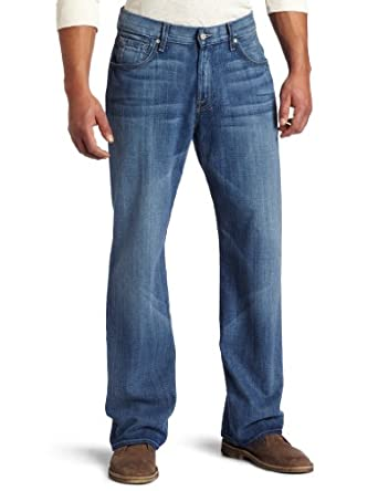 7 For All Mankind Men's Relaxed Fit Jean in Perfectly worn男士牛仔裤折后$158